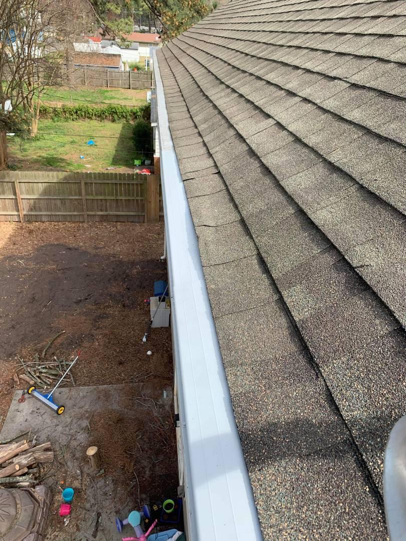 Norfolk, VA - Gutter repair guards gutter and roof