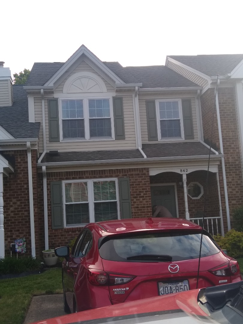 Chesapeake, VA - gutter cleaning and installation of gutter guard and replacement of dowspant 3x4