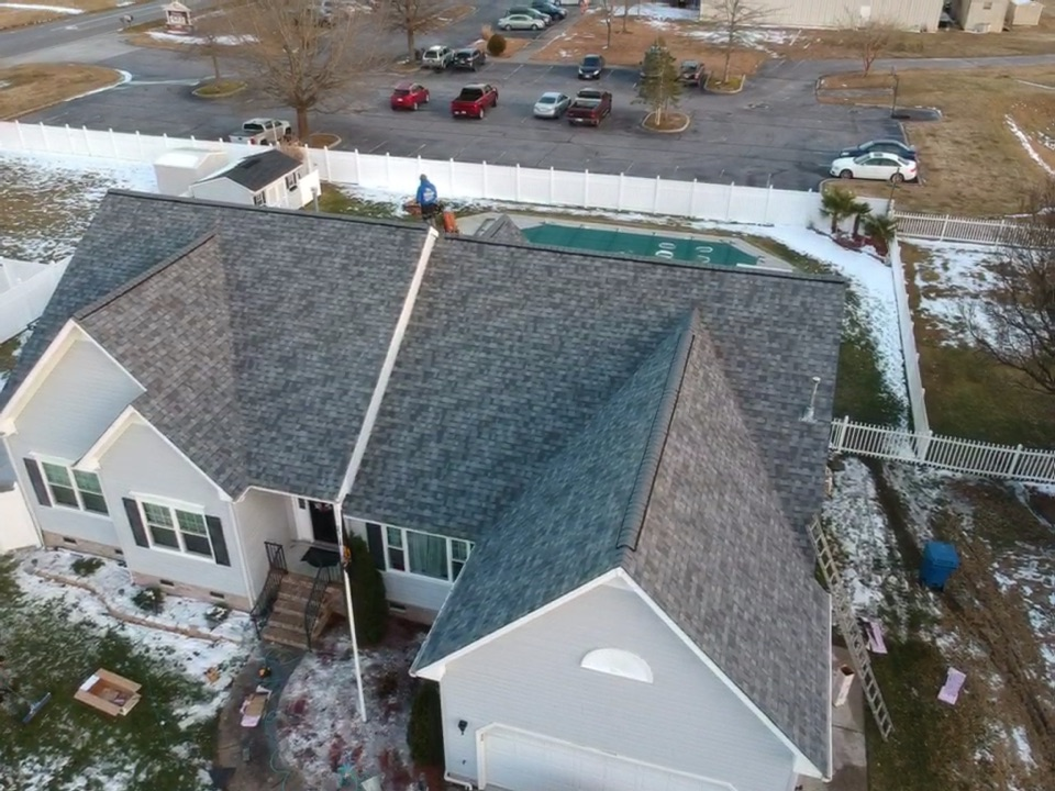 Virginia Beach, VA - Just finished roof replacement with Owens Corning slatestone gray