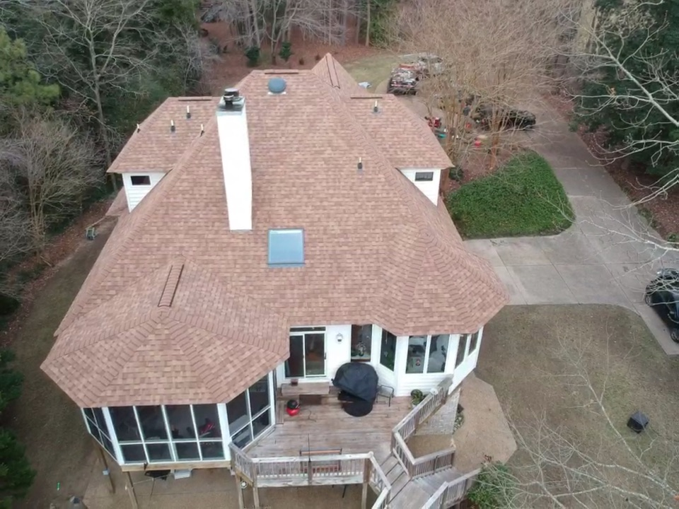 Carrollton, VA - Roof replacement complete with Owens Corning Desert Tan