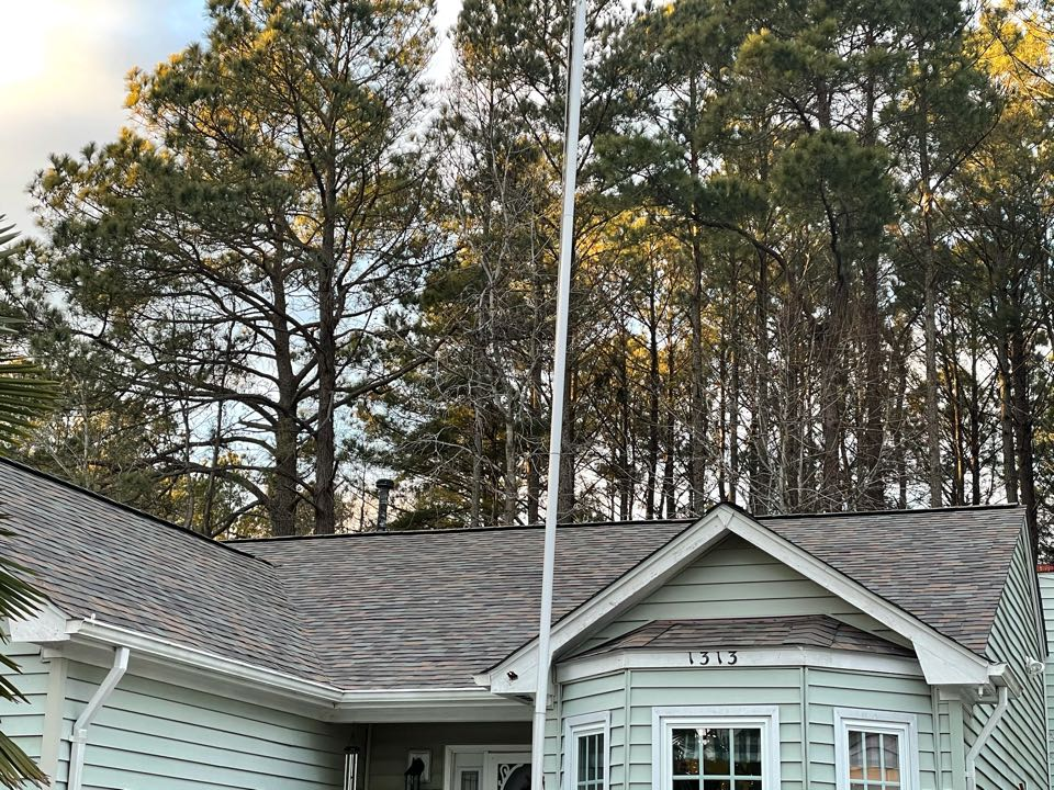 Virginia Beach, VA - Just completed a new roof installation using Owens Conning Duration HD lifetime warranty color Aged copper with underlinement of GAF Felt Buster High Traction synthetic roofing felt and cobra rigidvent3 for more air air flow in the house