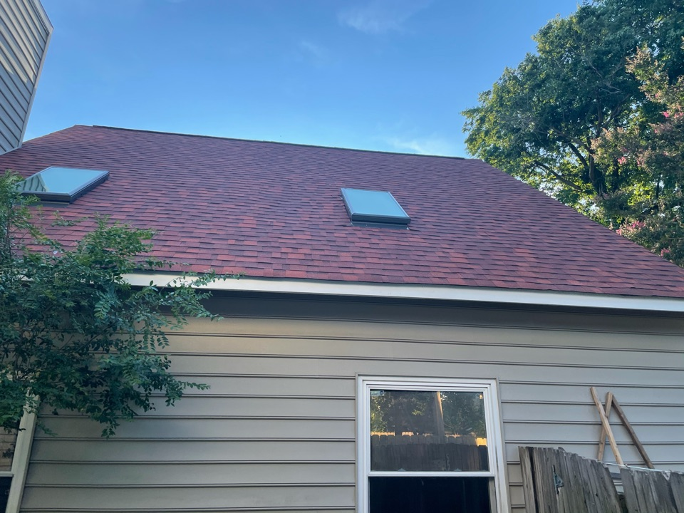 Virginia Beach, VA - Just completed a new roof installation using Owens Conning Duration HD lifetime warranty color  TERRACOTTA with underlinement of U20 Felt Buster High Traction synthetic roofing felt and cobra rigidvent3 for more air air flow in the house