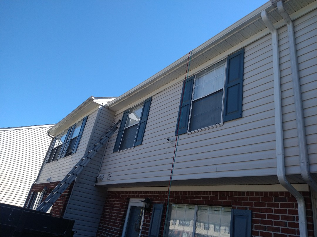 Hampton, VA - New gutters installation 5k seamless with downspout 2x3 white color