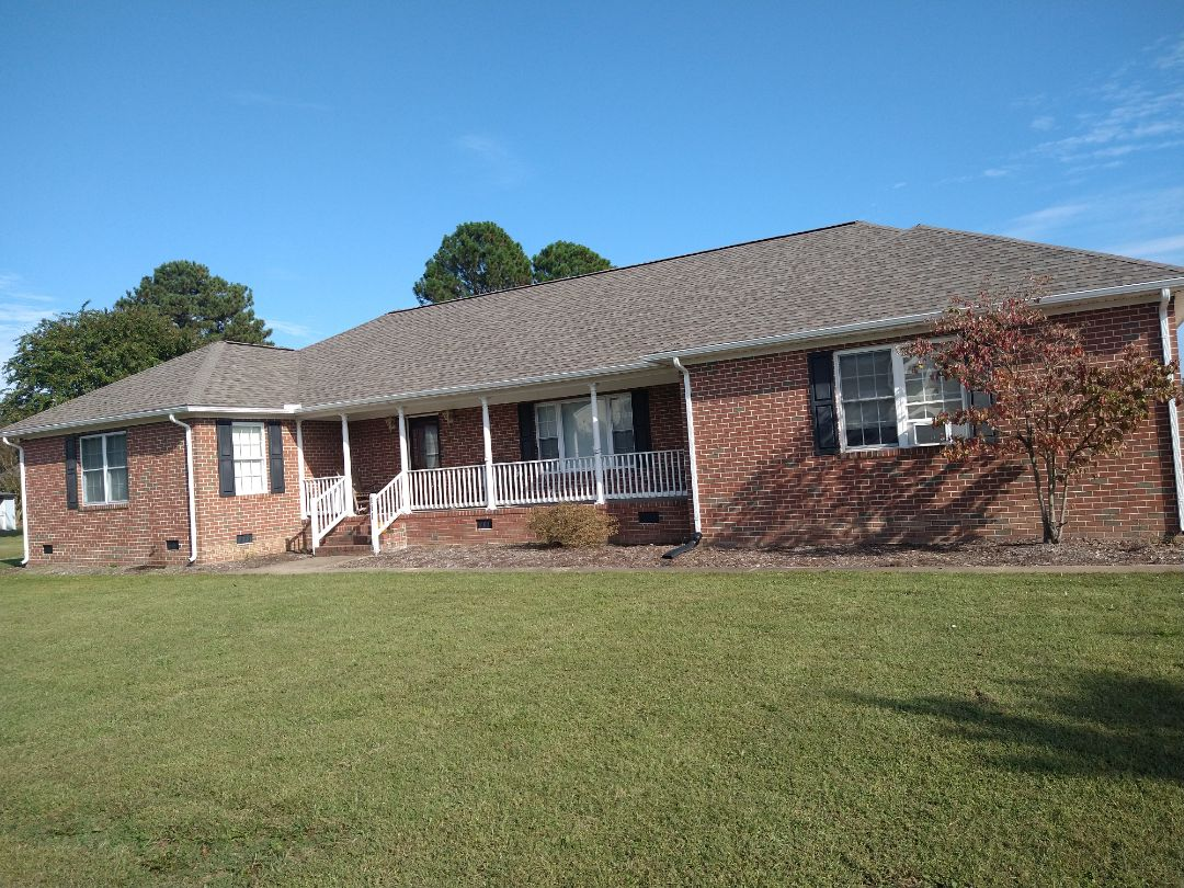 Carrollton, VA - New gutters installation 5k seamless White color and downspouts 2x3