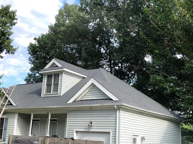 Chesapeake, VA - Roof replacement Complete with atlas Shingles pristine pewter