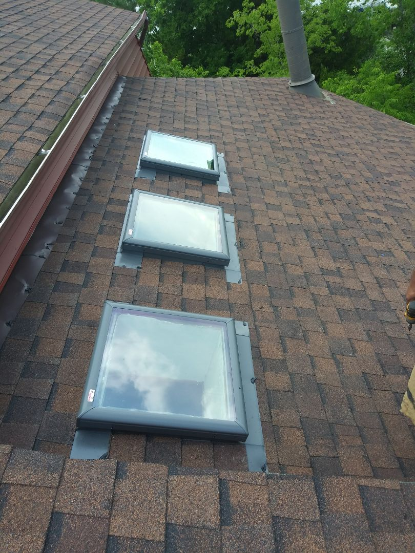 Norfolk, VA - Roof repair install 3 new skylight 2x2 velux