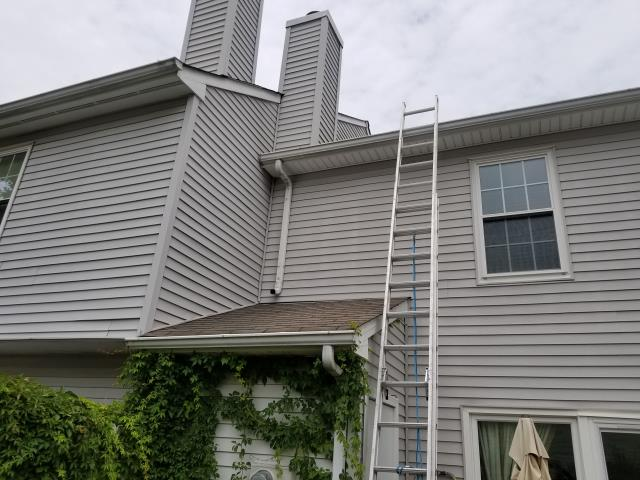 Yorktown, VA - Roof Repair Missing shingles, Pressure wash and gutters repair