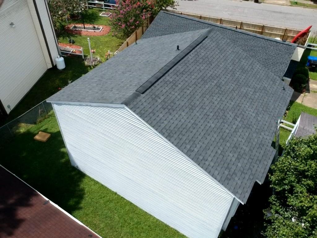 Portsmouth, VA - Complete Roof installation with Atlas pristine black