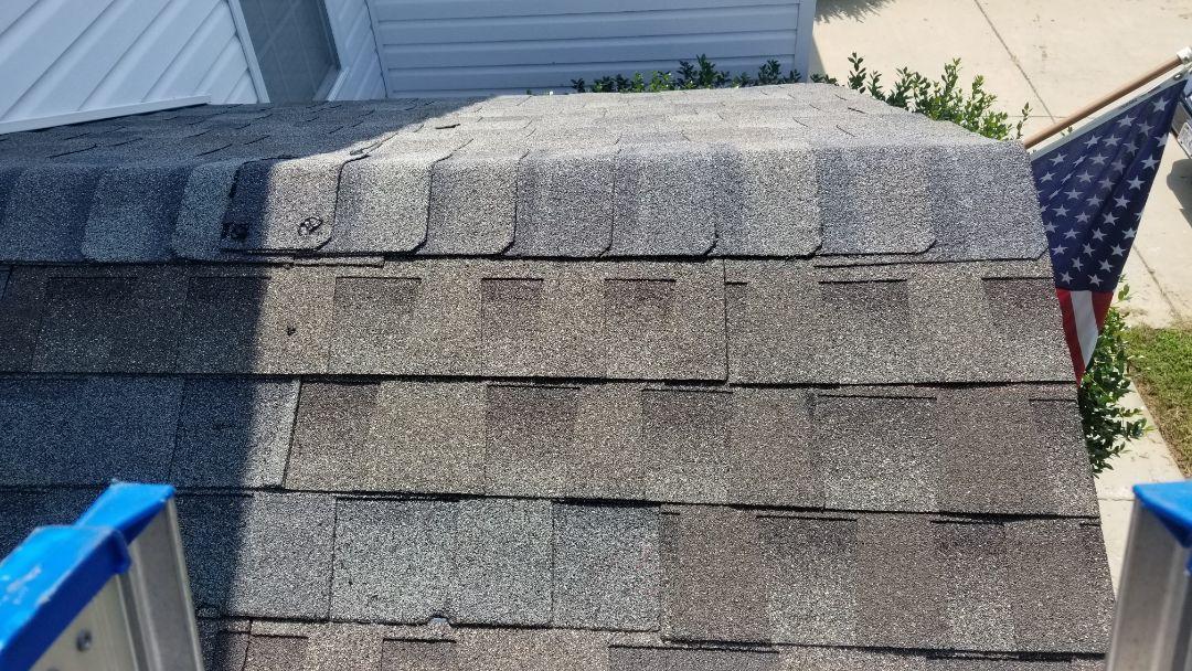 Williamsburg, VA - Roof repair missing shingles