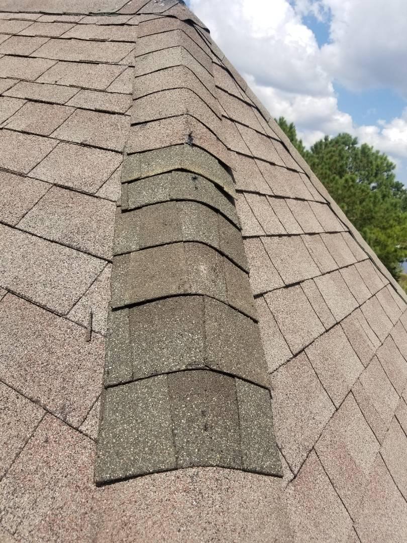 Chesapeake, VA - Roof repair missing shingles