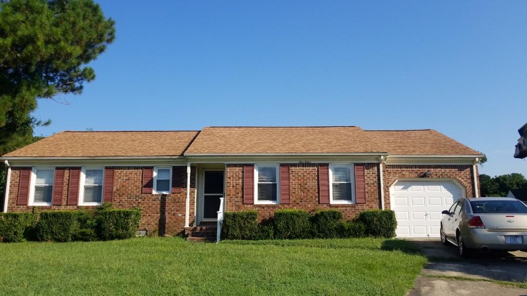 Chesapeake, VA - Roof replacement with Owen's Corning desert tan