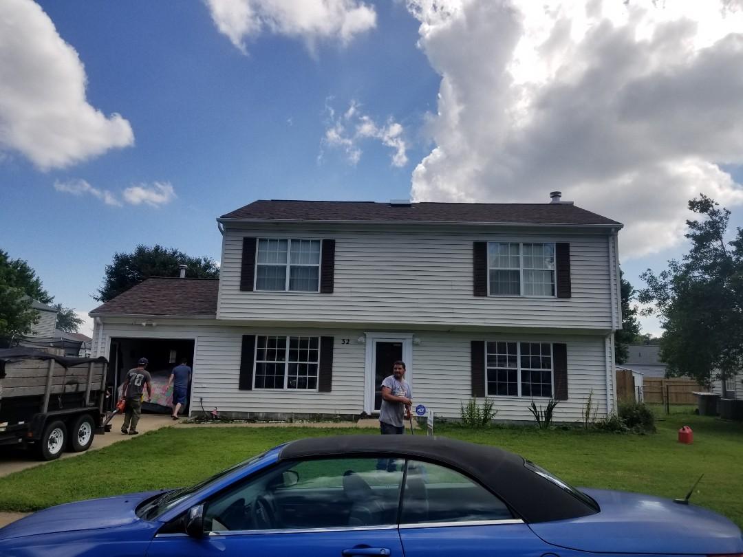 Hampton, VA - Roof replacement with Owen's Corning brownwood
