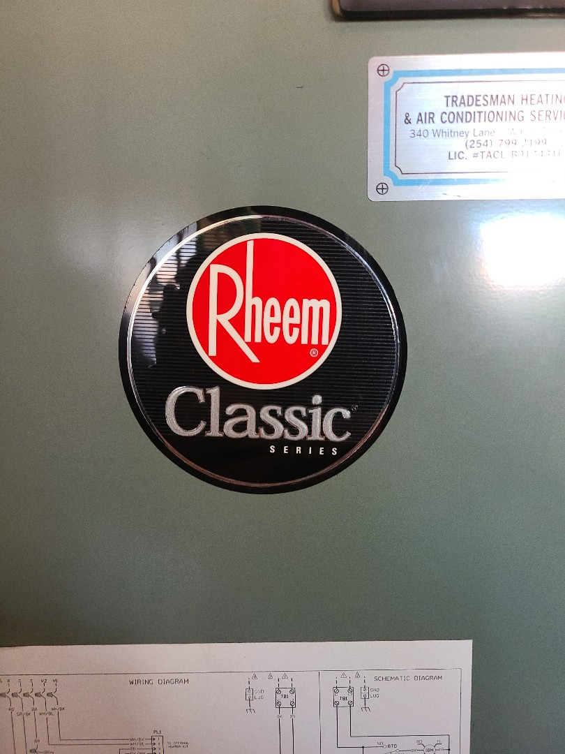 Waco, TX - Performed seasonal heating inspection on 1 rheem electric heat system