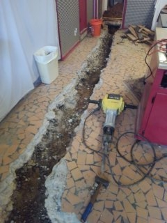 Southaven, MS - Replacing kitchen sink and washer drain under the slab