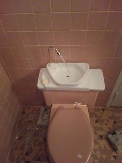 Memphis, TN - Installing sink on toilet
