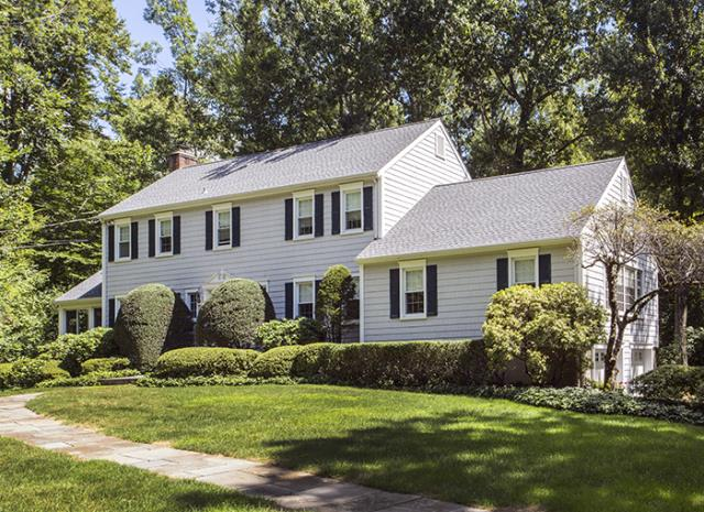New Canaan, CT - GAF Timberline HD architectural roof in Pewter Gray