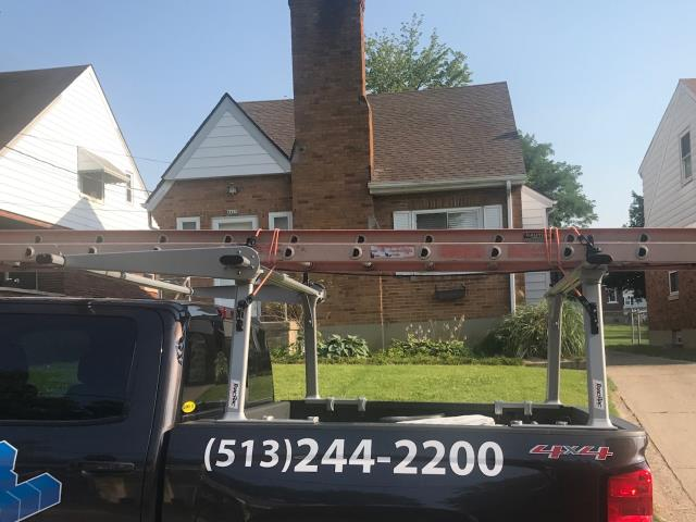 Cincinnati, OH - New GAF Timberline HD install. Color is Barkwood. This new roof was a result of storm damage.
