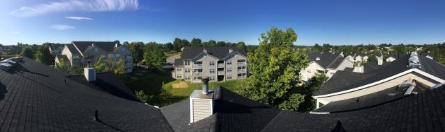 Florence, KY - Panoramic view of a recently finished apartment complex that we just finished. Great view . The big jobs are always fun.