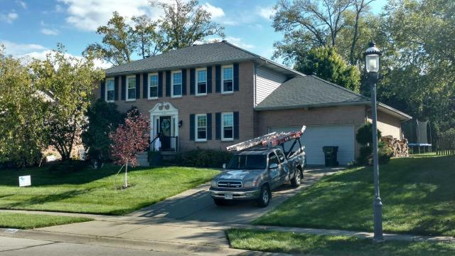 Cincinnati, OH - Golden Pledge Warranty the best in the business. New Roof GAF Timberline HD Pewter Grey. Great Family so glad we could help provide their roofing needs.