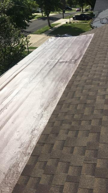 Cincinnati, OH - New GAF certified roof install and a fresh GACO high solid silicone coating. Very nice family that i'm happy we were able to take care of.