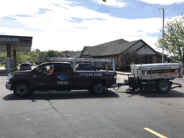 Fairfield, OH - New GAF Roof Install at a UDF. Equpiter is the best piece of equipment for Gas Canopy.