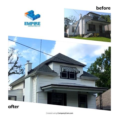 Cincinnati, OH - New Roof Installation. GAF American Harvest Nantucket Morning was an awesome color choice we love this line of shingles. Thank you so much for your business.