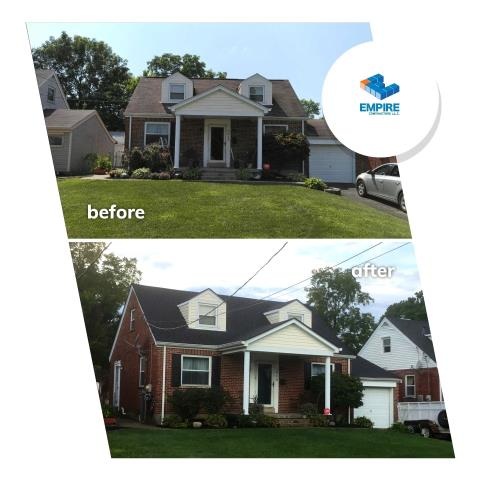 Cincinnati, OH - Another new roof installation from Empire Contractors. We helped this home recover from storm damage. GAF Timberline HD was the shingle of choice.