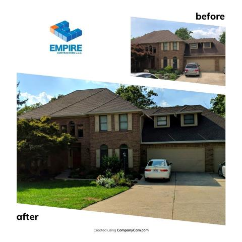 West Chester Township, OH - Another great roof install and gutter install by Empire Contractors LLC. GAF Timberline HD Barkwood was the color of choice here.