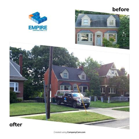 Cincinnati, OH - New Roof installation as a result of storm damage. GAF American Harvest Appalachian Sky was an amazing color choice here.