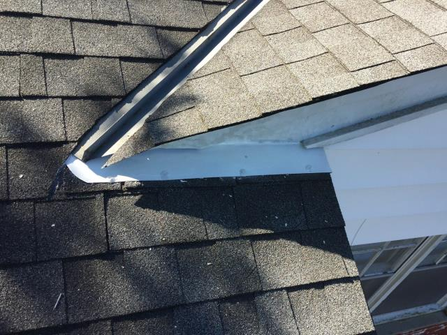 Preformed a flashing repair to the roof.