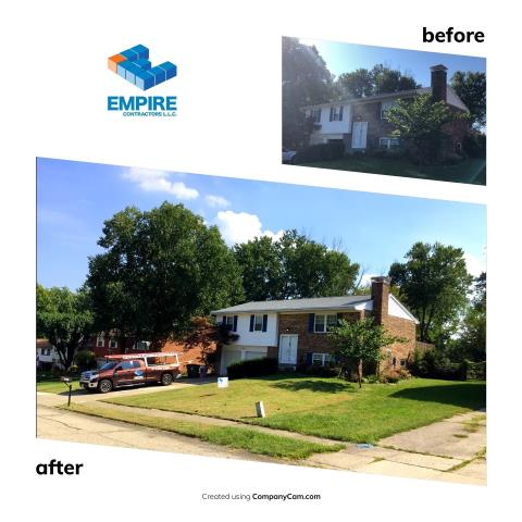 Villa Hills, KY - New GAF Roof installation by Empire Contractors LLC