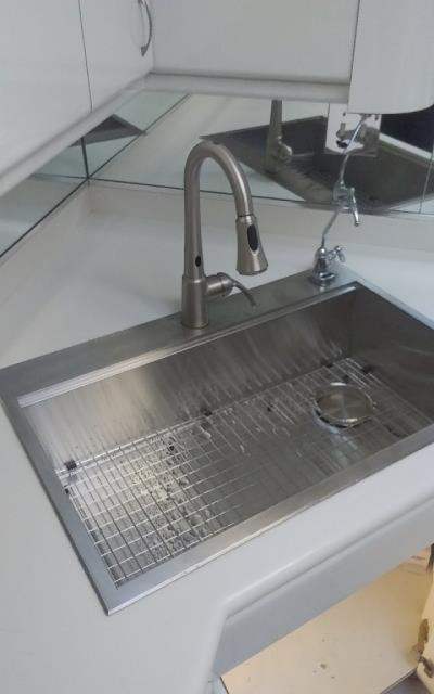 Glenview, IL - Installing a new kitchen sink for a residential customer in Glenview.