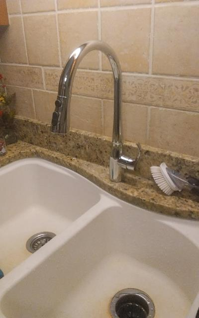 Palatine, IL - Installing a new Kohler kitchen sink faucet at a residence in Palatine.