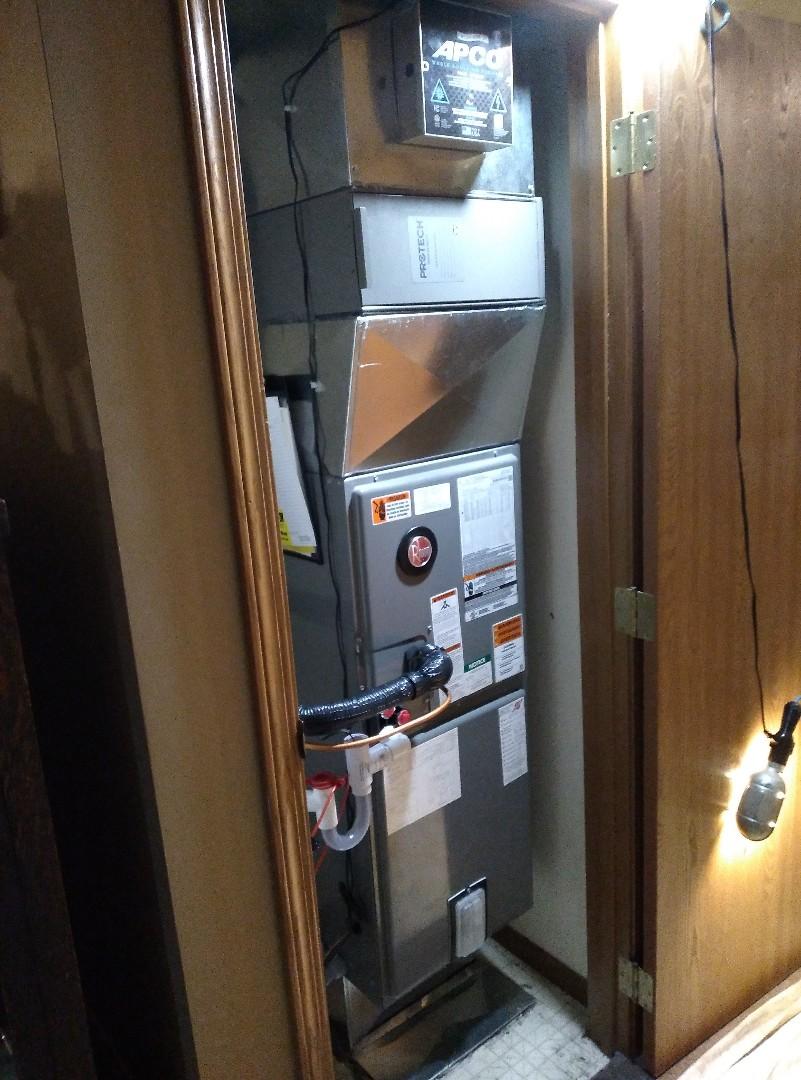 Installed new heat pump and air handler