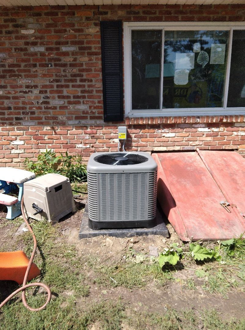 Installed new air conditioner and coil