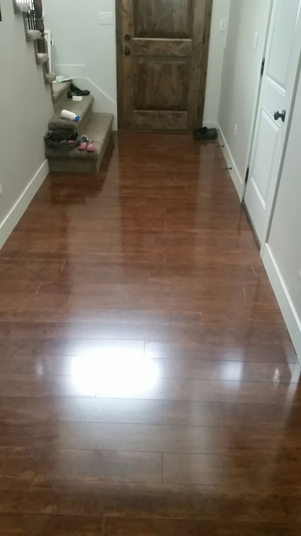 Demoed base to Installed laminate floor due to flooding