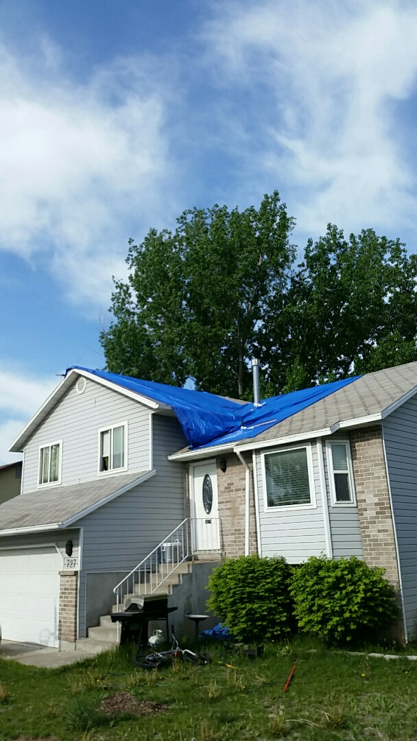 Re- tarp off a roof due to High Winds