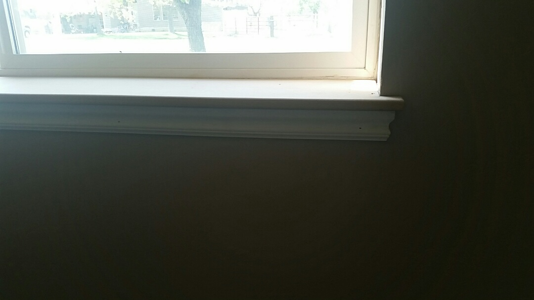Installed new window sills and skirts