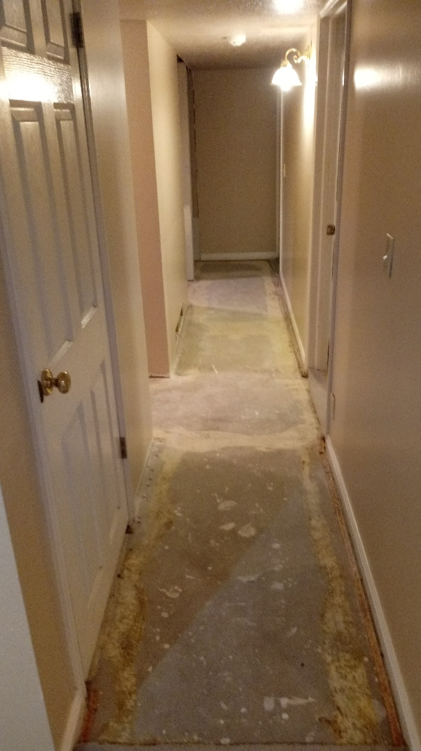 Installing new interior doors do to flood damage, installing new base new casings and floors