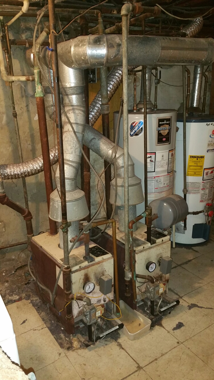 Brookhaven, PA - Replacement of old gas heating boiler, installing new Utica gas boiler.