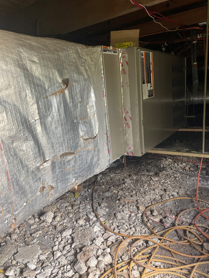 San Marcos, TX - Ductwork repair on annual maintenance tune up