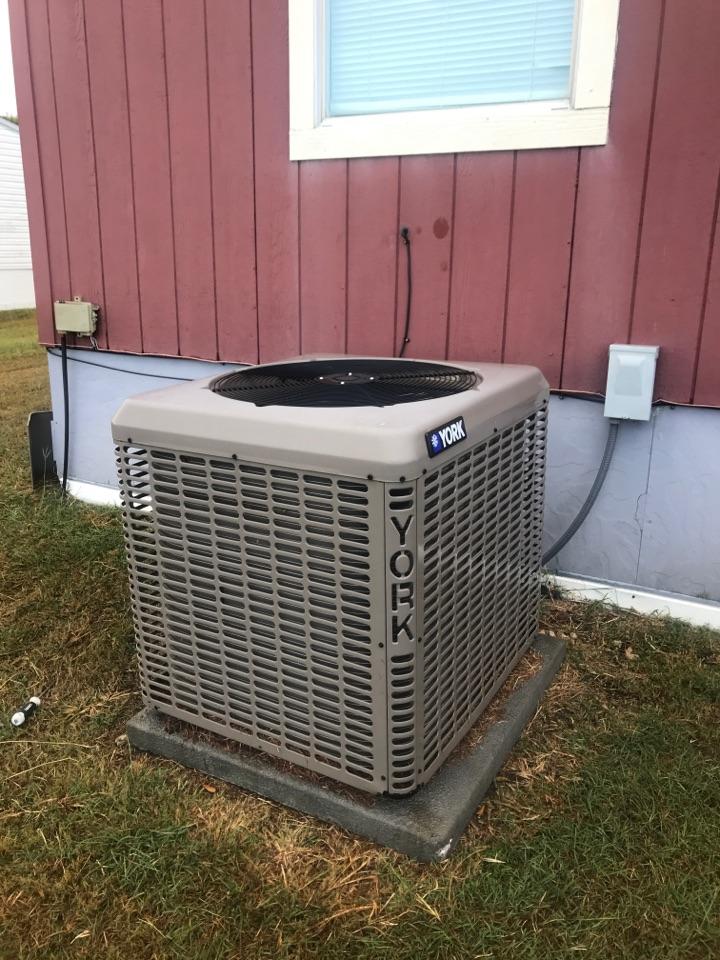 Kyle, TX - Preventive maintenance on a York mobile home hvac system