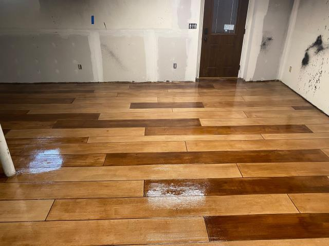 Cedar Rapids, IA - Looking for a floor that will stand out in your home? Rustic wood gives you that authentic classic look of hard wood, but the strength and durability of a concrete floor!! Perfect for any room remodel!