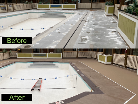 Waterloo, IA - These guys have done excellent work for us! We had Xtreme Clean & Coatings come out and resurface the hotel's pool deck. This team assures a job well done with quality work and great customer service!! These guys are true professionals who know what they are doing! Very pleased with their work and will be calling them for any future projects that come up!