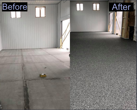 Madison, WI - My garage looks great! I knew I made the correct choice in calling Xtreme Clean & Coatings for the job. They showed up on time every day and were nothing but professional! They picked up after themselves, leaving only a stunning floor behind!  I highly recommend you give Jason and his crew a call if you are looking for a polite, professional, talented decorative concrete company!!!