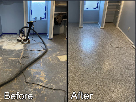 Rockford, IL - This before and after leaves me in awe!! Xtreme Clean & Coatings did a fantastic job on this transformation! This team assures that you receive quality work performed at a fair price! Jason is by far a talented contractor, and his work proves it!! I am extremely happy with the results!!! I would recommend Jason and his crew! to anyone!