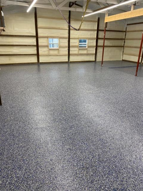 This crew is very professional! they had a lot of stain and blemishes to remove on the garage floor before they could resurface it, but that didn't bother them at all. They got the job done on time, and the result was a beautiful epoxy flake floor!! Highly recommend Jason and his crew.