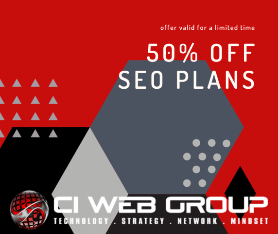 Houston, TX - Proud to be an SEO Company in Houston, TX! We're offering 1/2 off all of our SEO Plans through summer 2021. Check them out at https://www.ciwebgroup.com/seos/ and let us know how we can help!!
