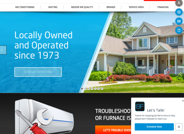 West Chicago, IL - Working with one of our HVAC Dealers,Pat Carr with Blue Frost Heating & Cooling on Wordpress Website Updates. Great client in West Chicago area.