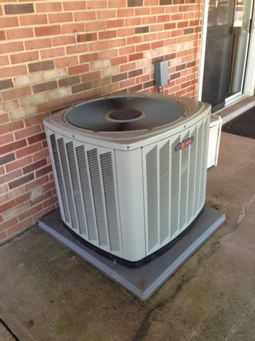Midland, VA - Last call of the day is an annual cleaning of the air-conditioning side of the system, out door unit, and indoor coil, also the drain line.